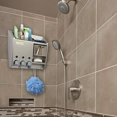 Bathroom Shower Shampoo Conditioner Lotion Soap Dispenser Organizer, White