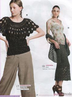 #Crochet blouse (pattern + diagram)