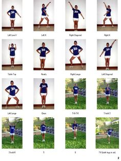 Cheer Motions and Jumps