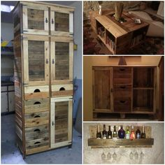 Furniture Made From Reclaimed Pallets #CoffeeTable, #PalletCabinet, #PalletFurniture, #PalletShelf, #RecycledPallet