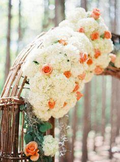 Hydrangeas and roses: http://www.stylemepretty.com/2015/03/30/whimsical-pine-grove-wedding/ | Photography: Josh Gooden - http://www.joshgooden.com/