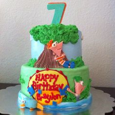 Phineas & Ferb cake by me.