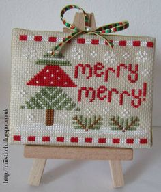 Trees Christmas cross stitch.