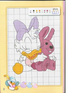 Ru / фото - disney a punto croce-speciale baby - Disney Stitch, Disney Cross Stitch Patterns, Cross Stitch Designs, Mini Cross Stitch, Cross Stitch Charts, Cross Stitching, Cross Stitch Embroidery, Animated Disney Characters, Mickey Mouse And Friends