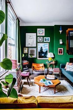 Rising London design stars Luke Edward Hall and Duncan Campbell share a three-roomed at in a converted Victorian terrace house in Camden, north London. Hall is an artist and designer concentrating on illustration, fabrics, ceramics and select interior des Vogue Living, Small Living, Home And Living, Living Room Designs, Living Room Decor, Living Area, Victorian Terrace House, World Of Interiors, Style At Home
