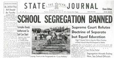 Segregation occurred at all ages. School segregation took place and had to be taken to the Supreme Court who banned the segregation.