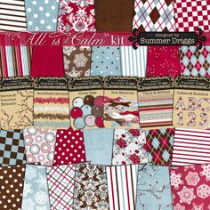 Quality DigiScrap Freebies: All Is Calm full kit freebie from Summer Driggs