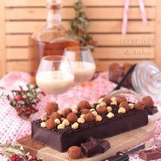 Turrón cremoso de Chocolate con Trufas Tapas, Relleno, Cereal, Breakfast, Food, Chocolate Truffles, Spoons, Xmas, Essen
