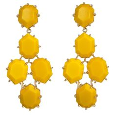 Kendra Scott Yellow Onyx Earrings