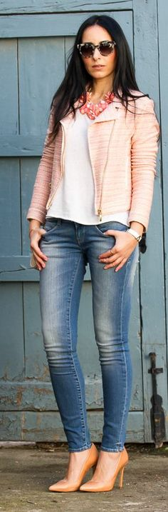 Coral Flowers and Denim by With Or Without Shoes