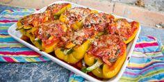 Gevulde Paprika's – Veggie Edition Go Veggie, Veggie Recipes, Healthy Dinner Recipes, Real Food Recipes, Yummy Food, Veggie Food, Belgium Food, Bbq, Curry