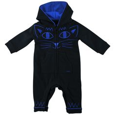 MARC JACOBS Blue romper suit with cat face