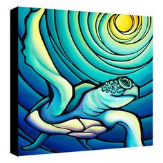 Blue Honu- 24x24 Giclee on canvas