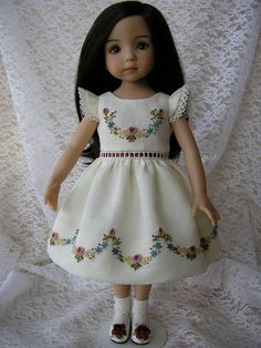 Another adorable Dianna Effner doll with a dress by Tomi Jane
