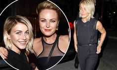 Julianne Hough goes rocker chic in overalls at Katy Perry concert