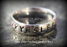 Customized 6mm Brished Stainless Steel  Metal by NameItAlready, $30.00