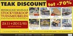 Tuinmeubel leegverkoop rechtstreeks van fabrikant Teak Discount -- Hamme -- 11/03-12/03