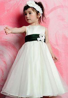 Fashion Floor Length Princess Empire Satin Flower Girl Dresses - 1300255036B - US$80.69 - BellasDress