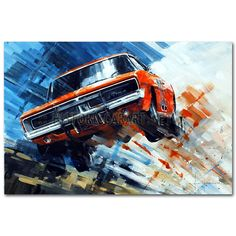 For The High Jump (Dukes of Hazzard) Original Painting by John Ketchell
