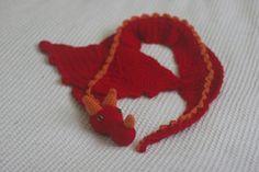 Free Crochet Pattern - Six Little Mice: Dragon Scarf Pattern Crochet Gratis, Crochet Amigurumi, Cute Crochet, Crochet For Kids, Crochet Scarves, Crochet Shawl, Knit Crochet, Ravelry Crochet, Knit Cowl