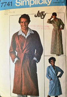 Simplicity 7741 Men's Robe Sewing Pattern Size Small (34-36) Vintage 1976 Simplicity,http://www.amazon.com/dp/B00C7FMXQK/ref=cm_sw_r_pi_dp_mK8ztb12CMX5RP7B