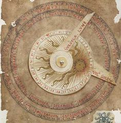 Flat astrolabe and moving indicator to determine planet influence Liber Physiognomiae fine art facsimile edition The Liber Physiognomiae is a miscellany of medieval astrological and medical treatises,. Ancient Astronomy, Compass Icon, Astronomy Pictures, Map Projects, Wheel Of Life, Instruments, Astrology Chart, Rare Images, Puzzle Books