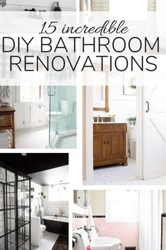 A roundup of 15 gorgeous DIY bathroom renovations. If you're looking for ideas for your latest bathroom remodel, this is sure to get your inspiration flowing! #bathroom #bathroomremodel #bathroomrenovation #diy #renovation #remodel Home Remodeling Diy, Bathroom Renovations, Furniture Makeover, Diy Furniture, Home Made Soap, Diy Room Decor, Home Decor, Clever Diy, Small Bathroom