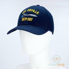 0277fc4a9ab The Orville Hat - USS Orville - Embroidered Geeky Baseball Cap - Naval Hat  Inspi