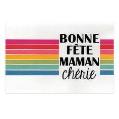 Carte Fête des Mères 'Bonne fête maman chérie' arc en ciel, Collection Lovely Scrap, Lovely Carte
