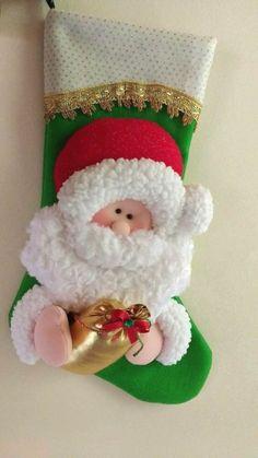 Felt Christmas Stockings, Christmas Stocking Pattern, Felt Stocking, Felt Christmas Ornaments, Kids Christmas, Christmas Crafts, Christmas Candy, New Years Decorations, Christmas Decorations