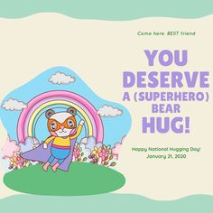 ‪You deserve a (superhero) bear hug! 🦸‍♀️🐻 🤗 ❤️ Here's one from us! #TBITalk #NationalHuggingDay #NationalHugDay #communitylove #appreciationpost ‬