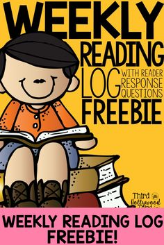 Weekly Reading Log with Reader Response Questions FREEBIE