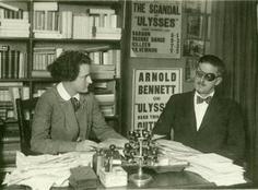 James Joyce with Sylvia Beach at Shakespeare and Company #dailyconceptive #diarioconceptivo