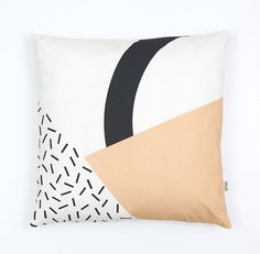 Memphis 3 Cushion Cover organic cotton twill by depeapa on Etsy, $41.00