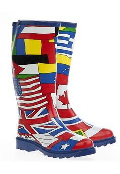 Rubber Rain Boots, Flags of the world