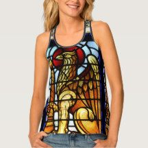 Stained glass griffin tank top