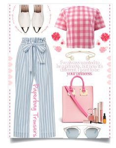 """OOTD:FRIDAY"" by thedistinctiveme ❤ liked on Polyvore featuring Frame Denim, Miu Miu, Christian Dior, Sophie Hulme, Josie Maran, Summer, stripes, ootd, plaid and casualfriday"