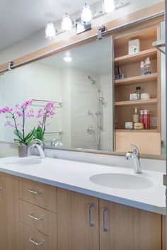 Sliding Gl Mirror Medicine Cabinet A Unique Take On Maximizing E Bathroom With