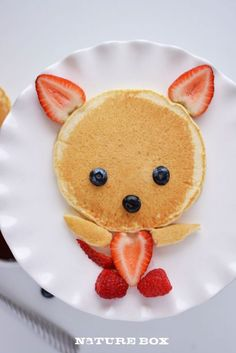 valentine breakfast. Pancake fox! OMG the cutest breakfast I've ever seen