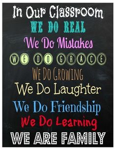 In Our Classroom Rules Poster...Love this!