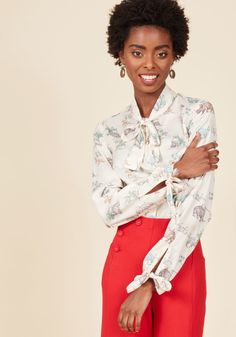 Positive Professionalism Button-Up Top in Dino in 3X, #ModCloth