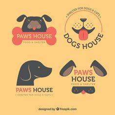 Dog Logo Vectors, Photos and PSD files Pet Shop, Dog Grooming Shop, Basenji Dogs, Pet Dogs, Dog Cat, Dog Logo Design, Cat Design, Graphic Design, Shiba Inu