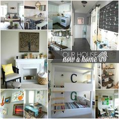 our house now a home. Lots os DIY projects and low cost ideas help make this bloggers home be warm, calm, bright with a coastal feel. This is a family friendly home that is functional and stylish. To see more visit http://ourhousenowahome.com/ or click on the post