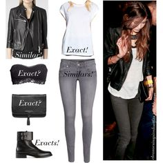 Eleanor Calder by domeenica on Polyvore featuring Topshop, AllSaints, H&M, Yves Saint Laurent, MANGO, eleanorcalder, eleanorcalderstyle, exacts and eleanorcalderblog