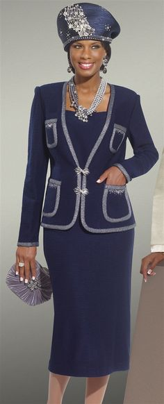 women's church suits and hats | Donna Vinci Knits, Dresses, Church Hats For Women