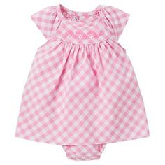 Just One You™Made by Carter's® Baby Girls' Checked Sunsuit - Pink