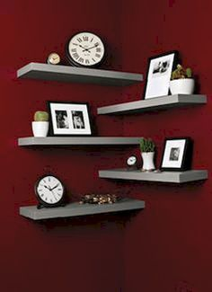 Awesome 30 DIY Corner Shelves to Beautify Your Awkward Corner https://homeastern.com/2017/09/04/30-diy-corner-shelves-beautify-awkward-corner/