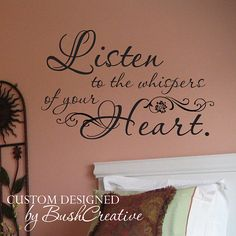 Vinyl decal wall lettering quote whispers  via Etsy