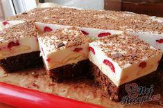 Recept Pepove řezy. Nejlepší zákusek se zakysanou smetanou a čokoládou. Brownie Cupcakes, Thanksgiving, Cakes And More, Tiramisu, Cheesecake, Deserts, Food And Drink, Lunch, Treats