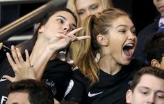 Kendall Jenner and Gigi Hadid in PSG